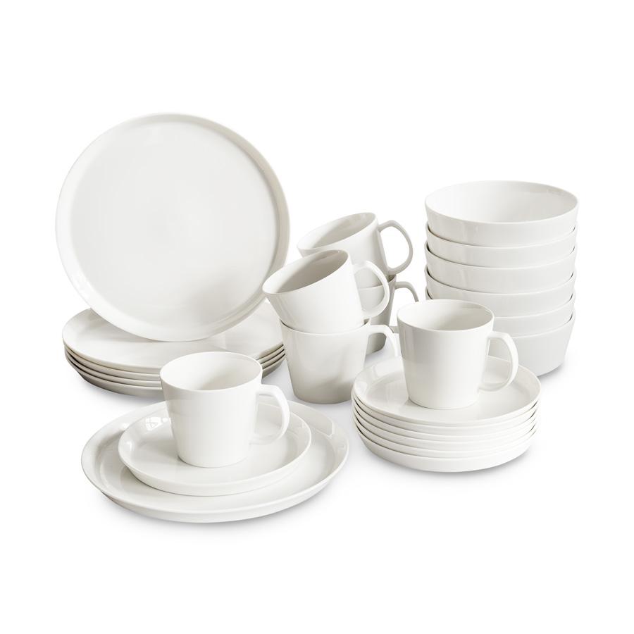 Skandinavisches Porzellan geschirr set svea 24 tlg springlane kitchen