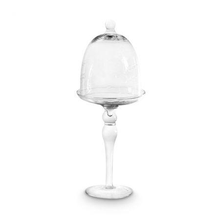 glas schale auf fu mit glocke 26 cm. Black Bedroom Furniture Sets. Home Design Ideas