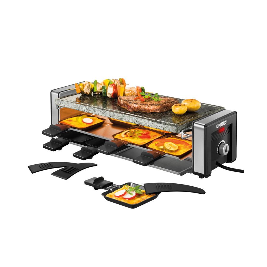 raclette delice 48765 f r 8 personen mit natursteinplatte. Black Bedroom Furniture Sets. Home Design Ideas