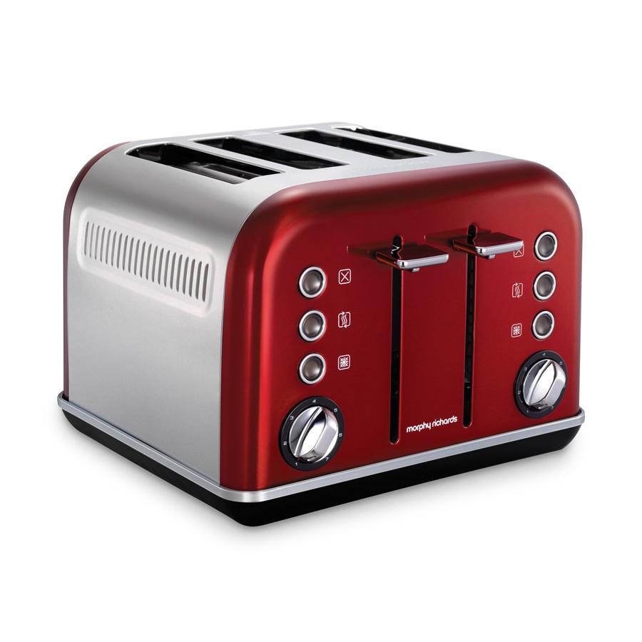 toaster accents 4 schlitz rot morphy richards. Black Bedroom Furniture Sets. Home Design Ideas