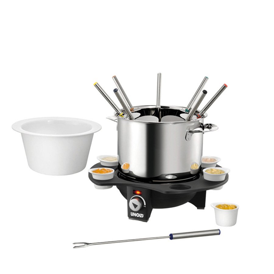 edelstahl fondue set elegance elektrisch unold. Black Bedroom Furniture Sets. Home Design Ideas