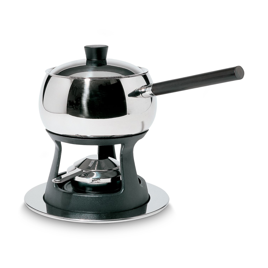 edelstahl fondue set mami 4 tlg mit deckel alessi. Black Bedroom Furniture Sets. Home Design Ideas