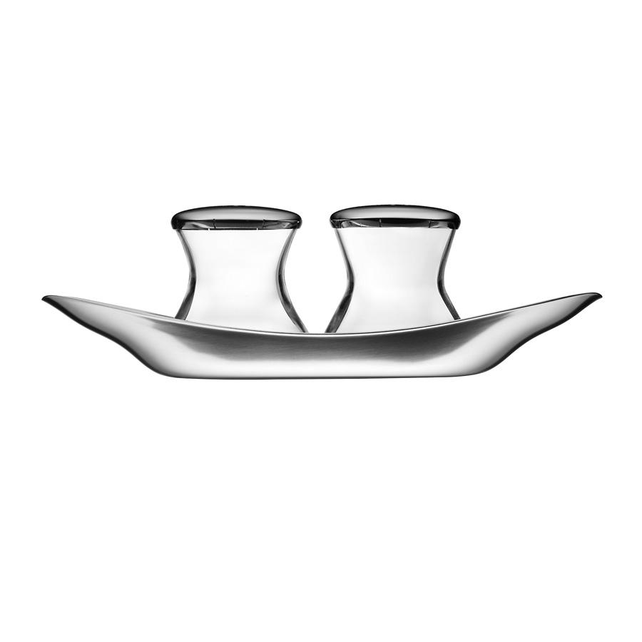 cromargan salz und pfefferstreuer set wagenfeld 3 tlg wmf. Black Bedroom Furniture Sets. Home Design Ideas
