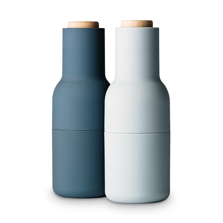 pfeffer und salzm hle bottle grinder blues klein 2er set menu. Black Bedroom Furniture Sets. Home Design Ideas