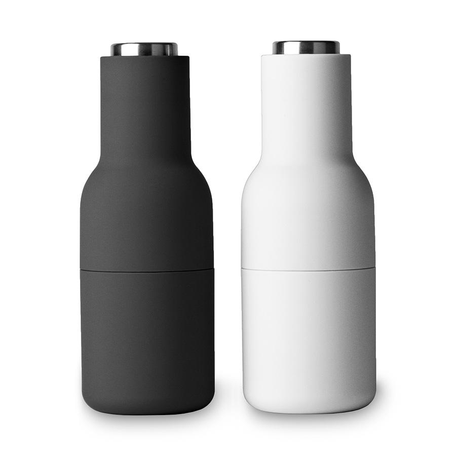 pfeffer und salzm hle bottle grinder ash carbon stahl klein 2er set menu. Black Bedroom Furniture Sets. Home Design Ideas