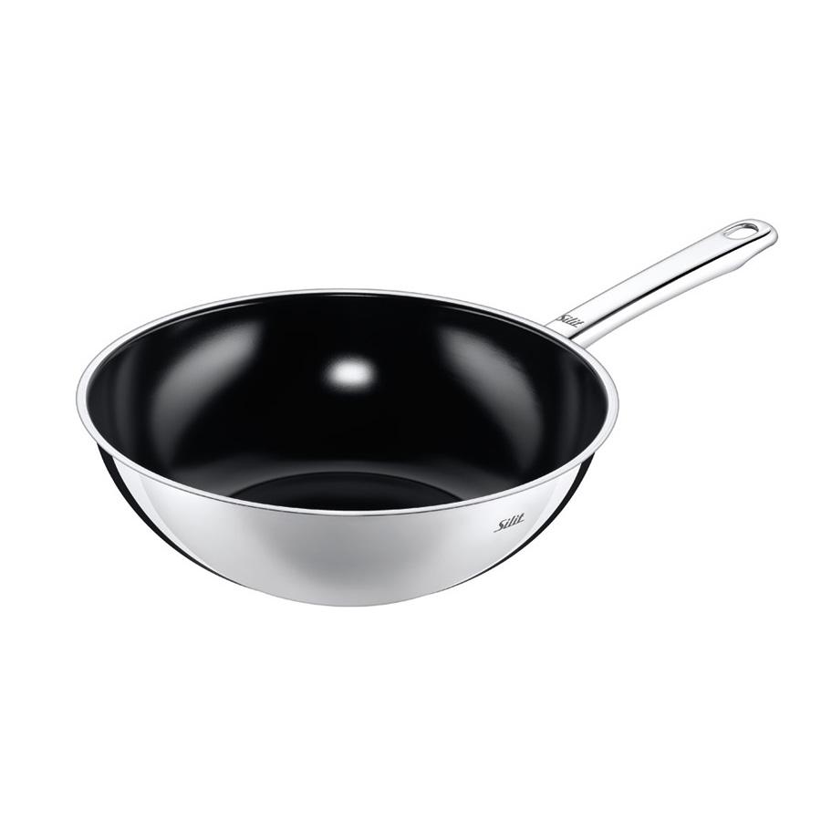 edelstahl wok pfanne wuhan 28 cm silit. Black Bedroom Furniture Sets. Home Design Ideas