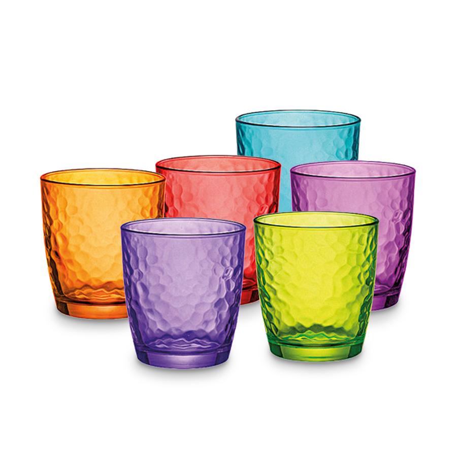 I Bicchieri Bormioli : Rocco bormioli set bicchieri acqua palatina vari colori