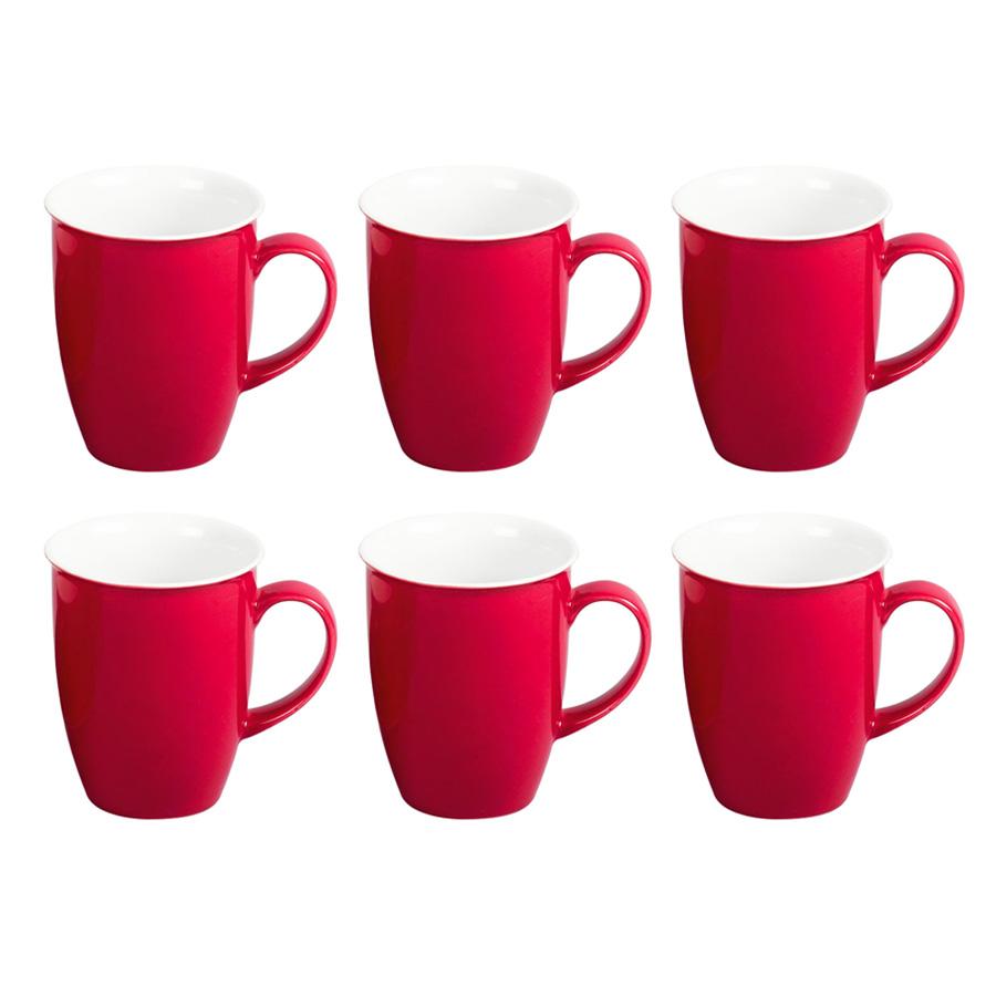 6er set kaffeebecher doppio rot flirt by r und b