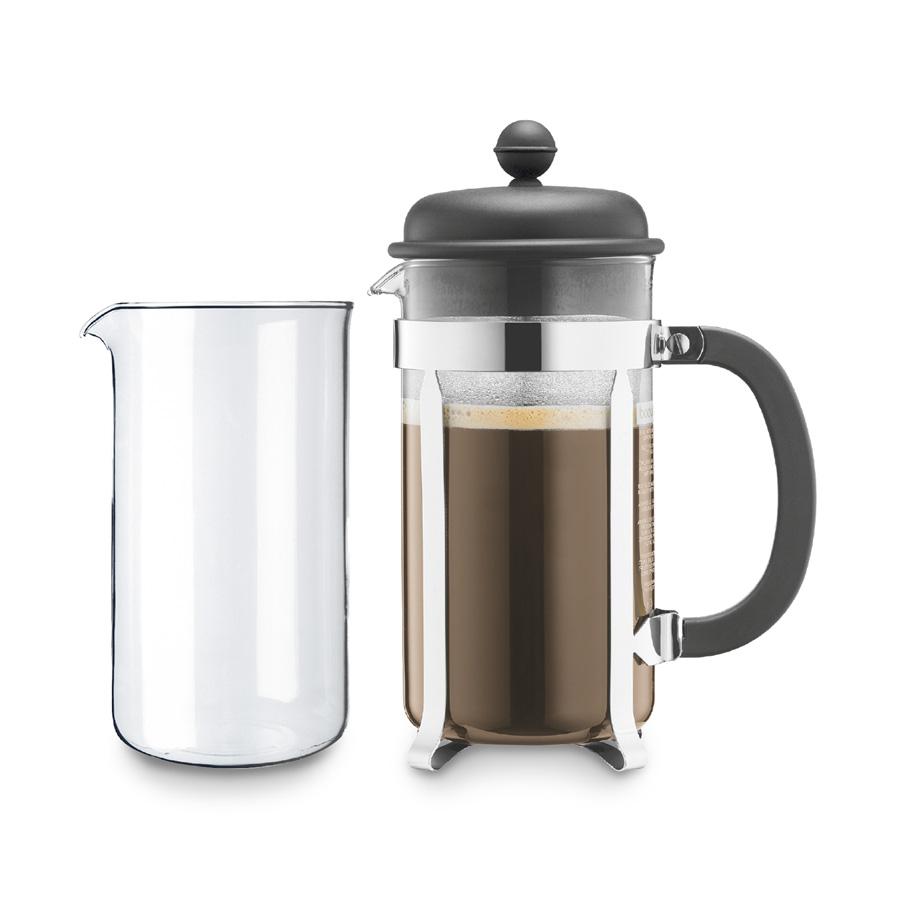 kaffeebereiter caffettiera 8 tassen 1 l mit ersatzglas bodum. Black Bedroom Furniture Sets. Home Design Ideas