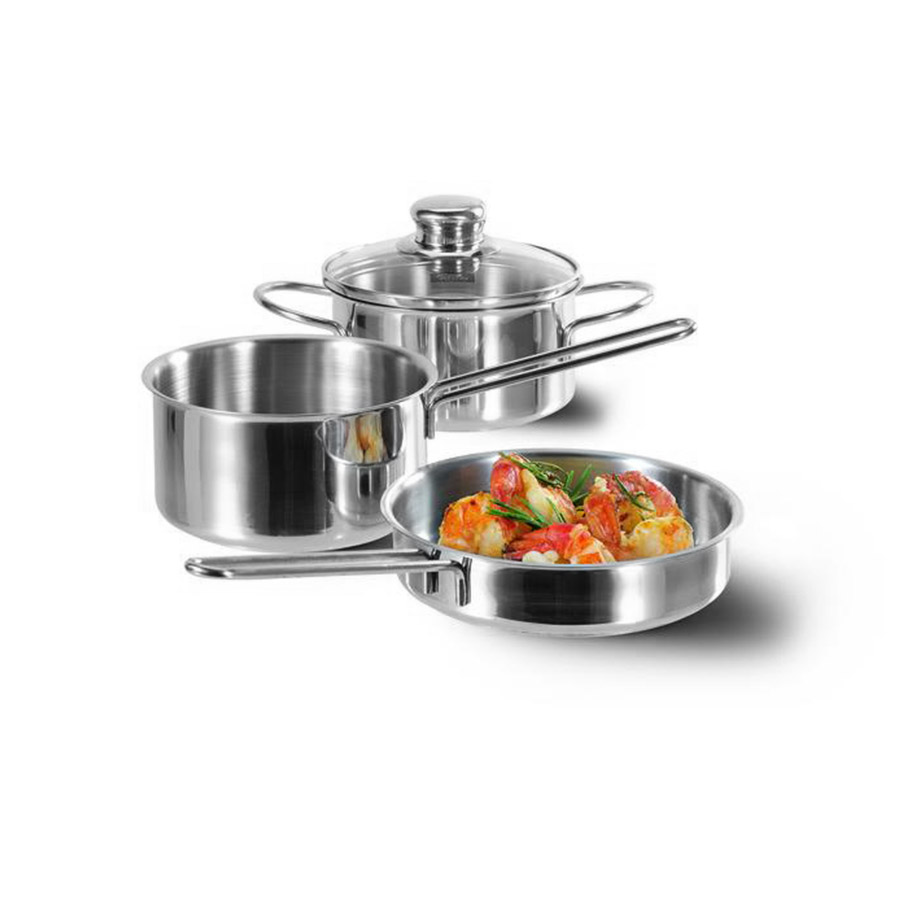 edelstahlpfanne h ppchen set 16 cm fissler. Black Bedroom Furniture Sets. Home Design Ideas