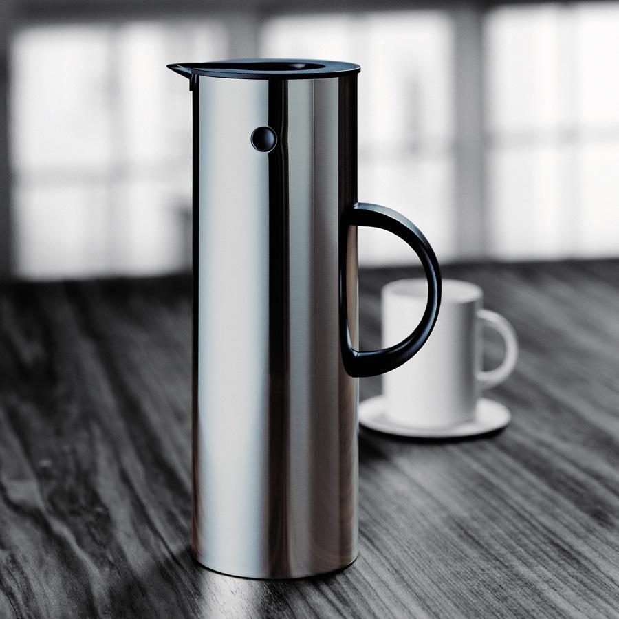 isolierkanne em77 1 liter stahl stelton. Black Bedroom Furniture Sets. Home Design Ideas