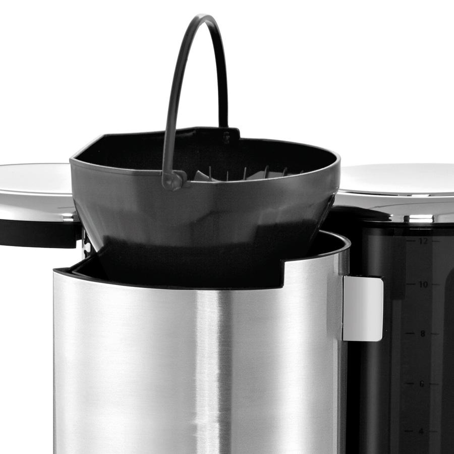 edelstahl kaffeemaschine lineo glas wmf. Black Bedroom Furniture Sets. Home Design Ideas